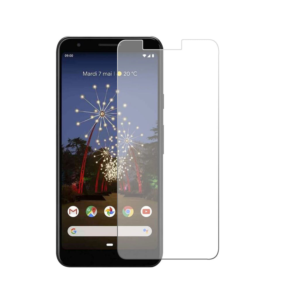 Google pixel 3a screen protector anti fingerprint bubble free tempered glass 2 Pack