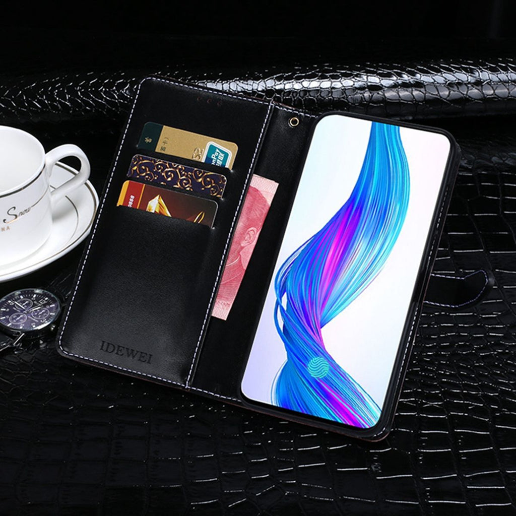 Realme X Wallet Case Magnetic Closure Credit Card Slot Slim PU Leather Wallet Cover