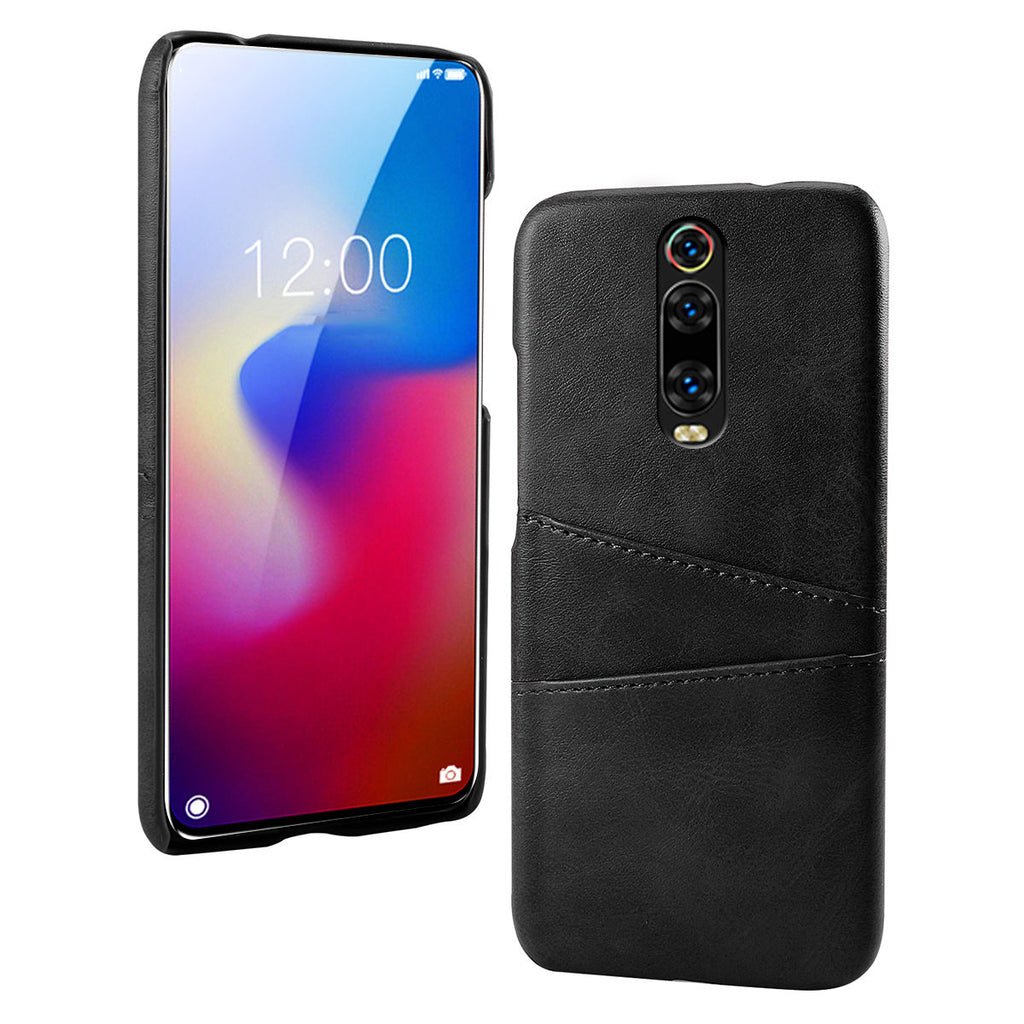 Redmi K20 Pro Phone Cover with 2 Card Slots Anti Scratch Case Black