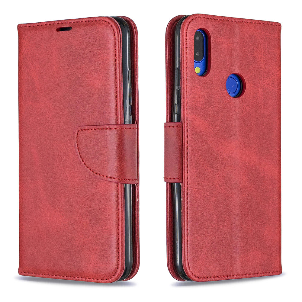 Redmi Note 7 Wallet Card Case Phone Leather Cover with Kickstand for Women Red
