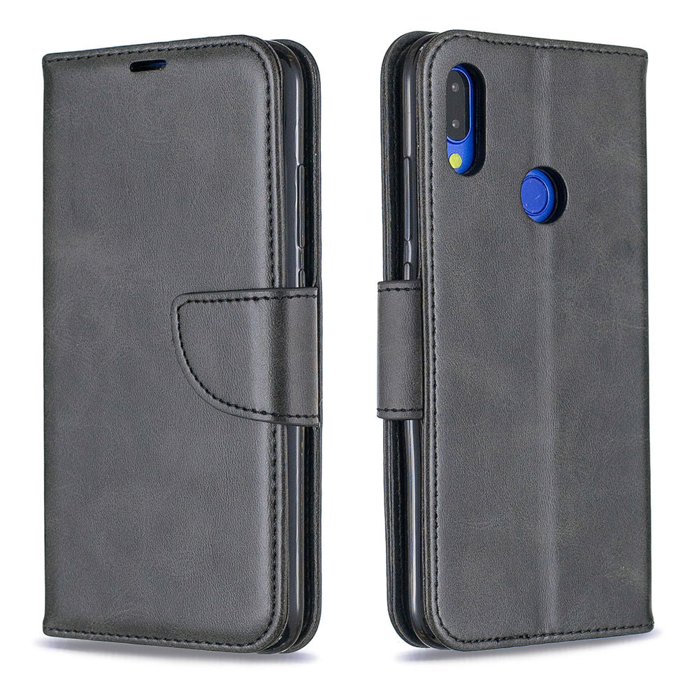 Redmi Note 7 Wallet Case with Card Slots Flip Folio Shockproof Leather Black