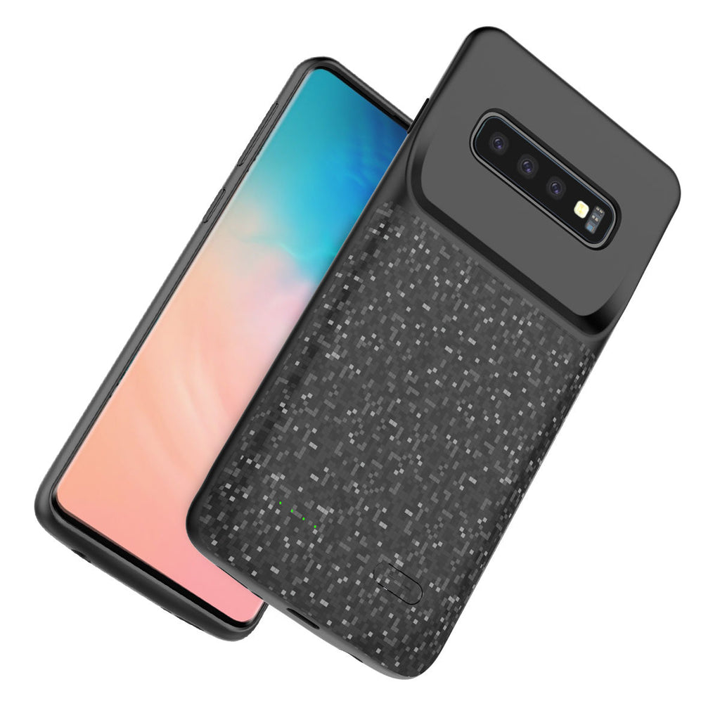 Samsung Galaxy S10 Rechargeable 4700mAh Battery Case LED Display Data Sync Function Black
