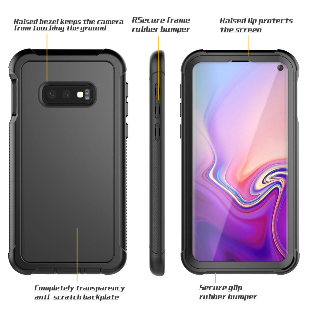Samsung Galaxy S10 Phone Cases Full-Body Rugged Clear Hybrid Bumper Case