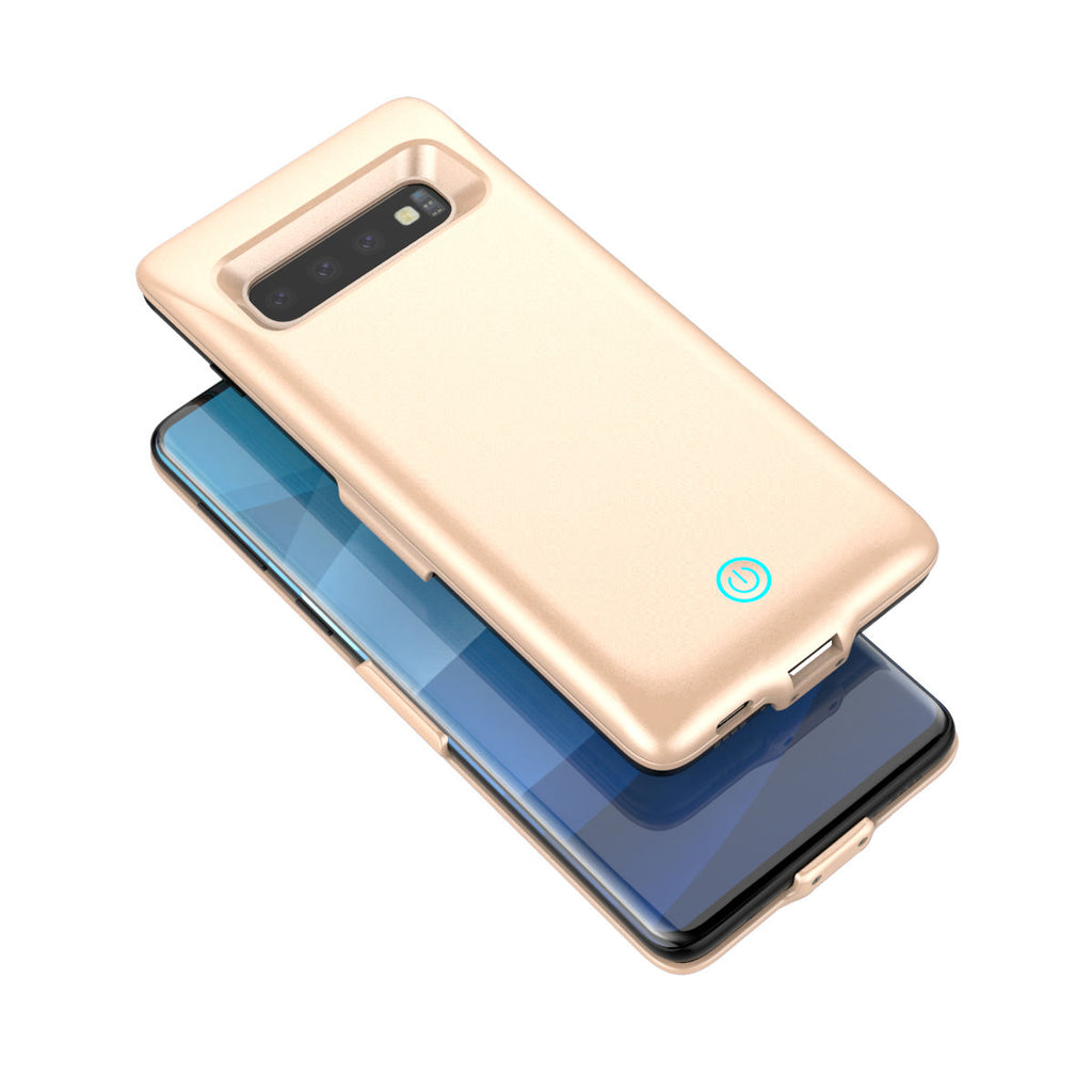 Samsung Galaxy S10 Plus Charging Case  Phone Charger 6000mAh External Battery Pack Golden