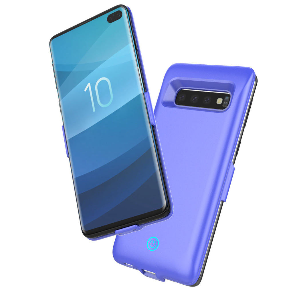 Battery Case for Galaxy S10 Plus 6000mAh Rechargeable Extended Charge Case Blue