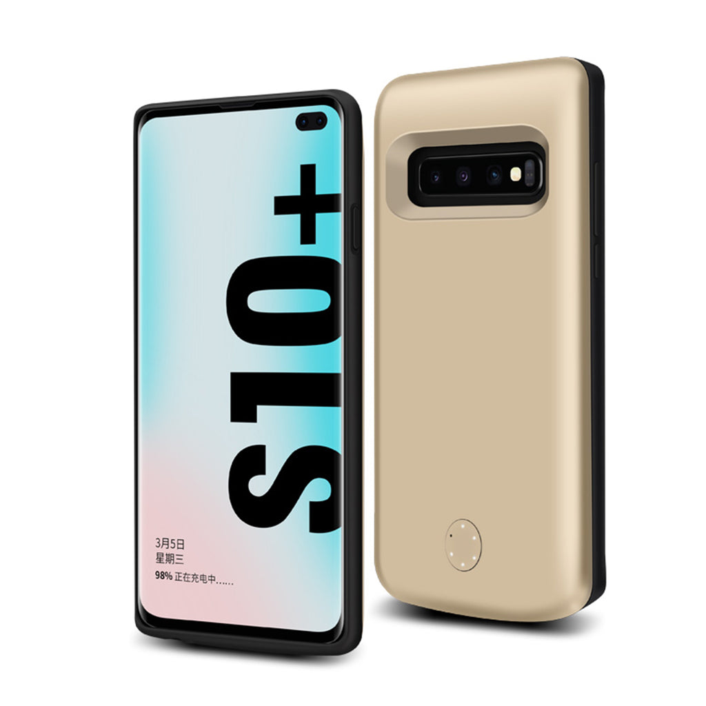 Samsung Galaxy S10 Plus 6000mAh Extended Battery Case Slim Samsung Phone Charger Gold
