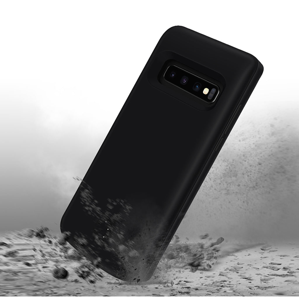 Galaxy S10 Plus Battery Case 6000mAh Extended Backpack Charger Black
