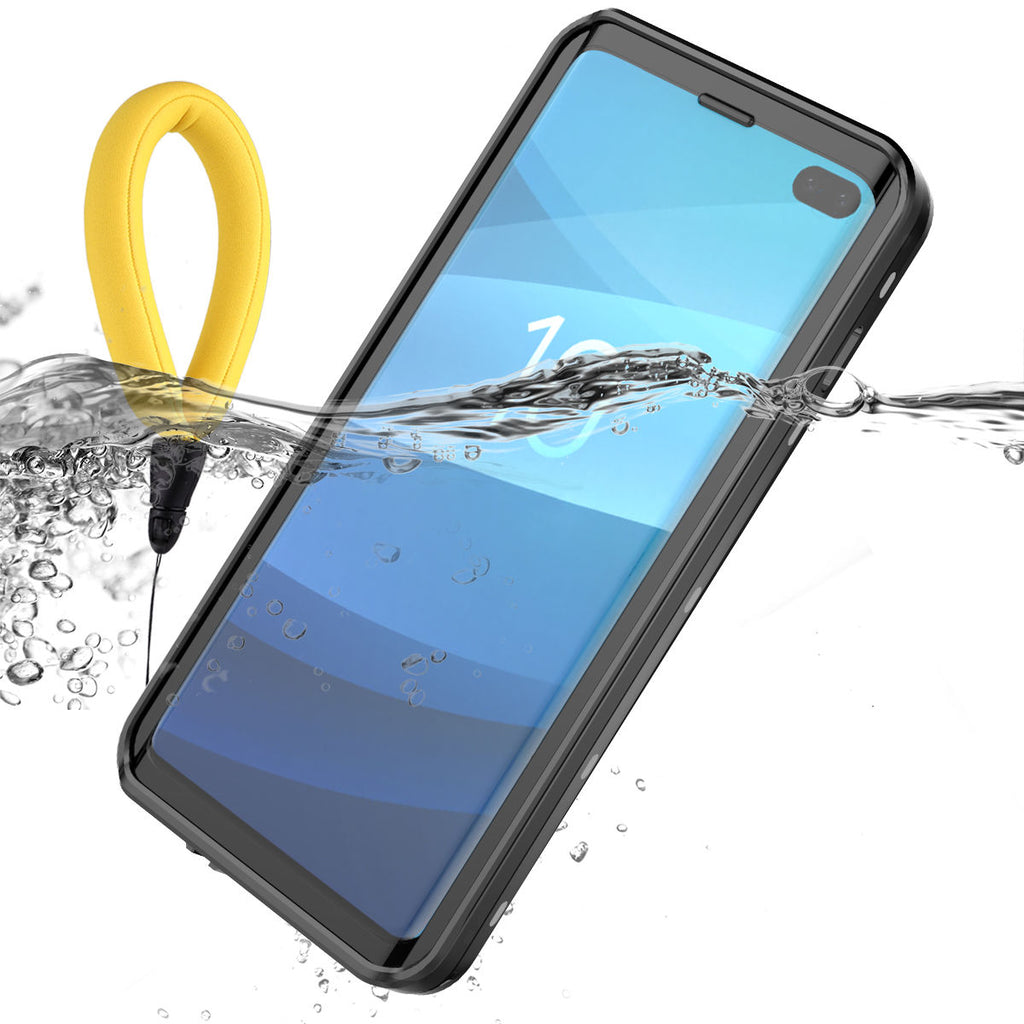Galaxy S10+ Plus Waterproof Case Samsung with Floating Strap with Built in Screen Protector