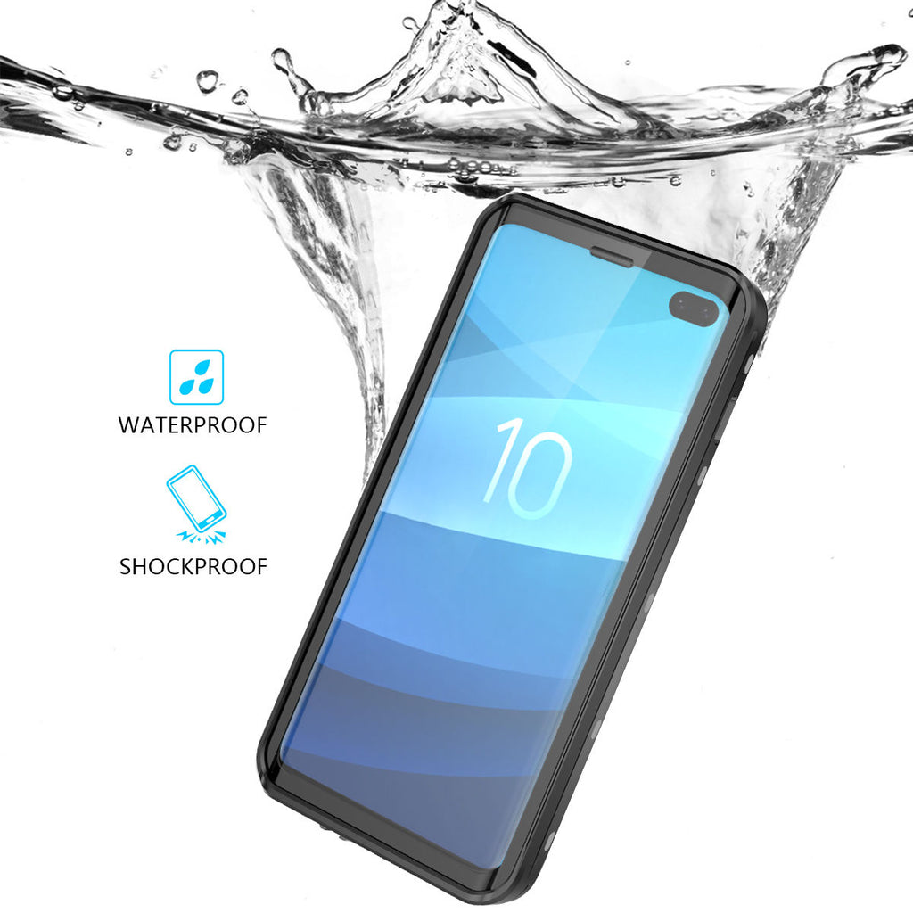 Samsung Galaxy S10 Plus Water Resistant Case Bumper Corners Shock Absorption with Floating Strap