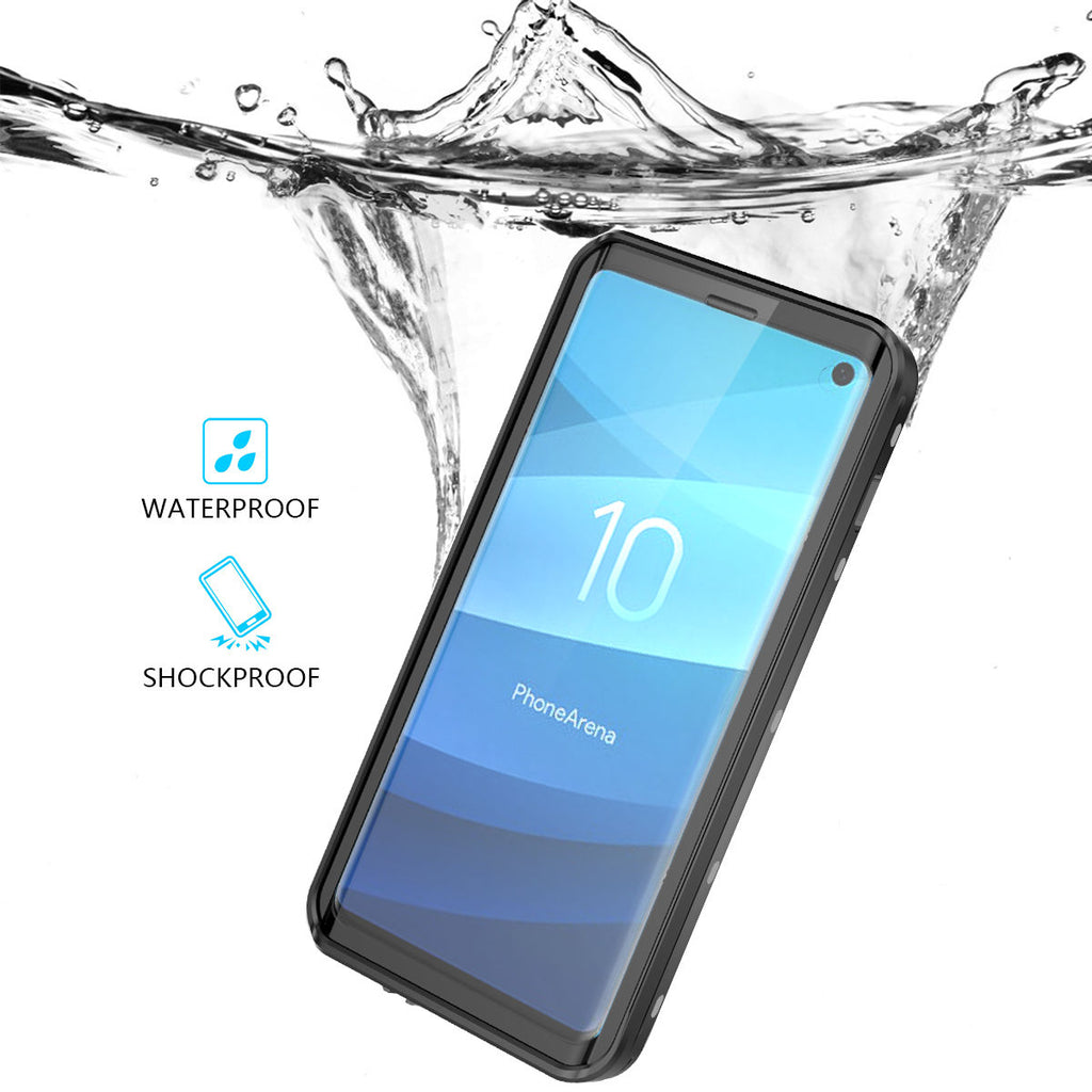 Samsung Galaxy S10 Waterproof Case with Built-in Screen Protector Best Front Protection Full-Body Rugged Resistant Protective