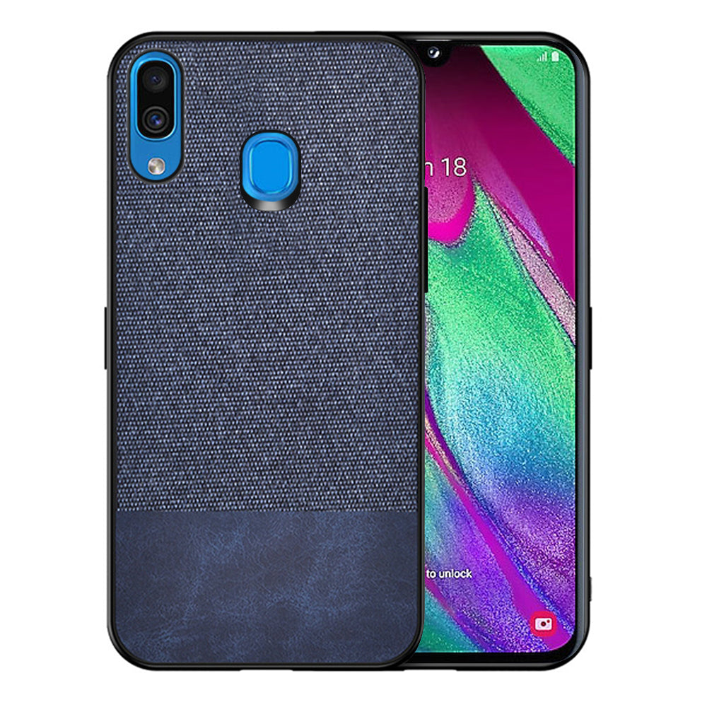 Samsung Galaxy A30s Case Silicone Edge Shock Resistance Ultra Thin Fabric Back Cover Blue