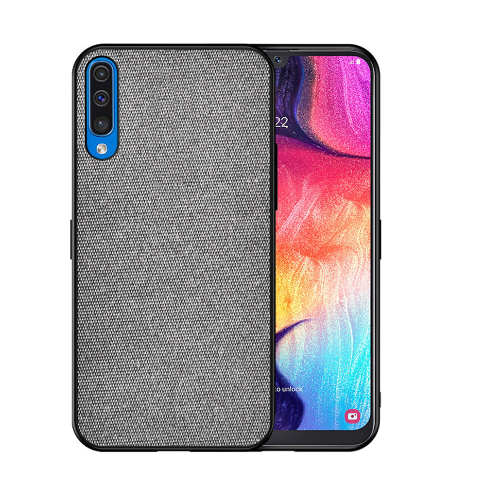Samsung Galaxy A50s Case Slim Dropproof Protective Bumper Fabric Cover Grey