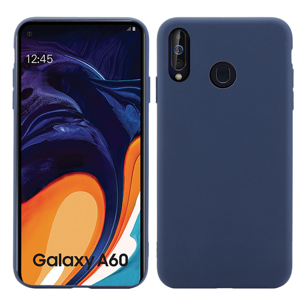 Galaxy A60 Case Soft TPU Cushion Shockproof Thin Cover Dark Blue
