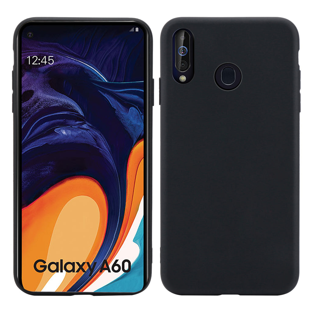 TPU Bumper Case for Samsung Galaxy A60 Ultra Thin Drop-proof Cover Black