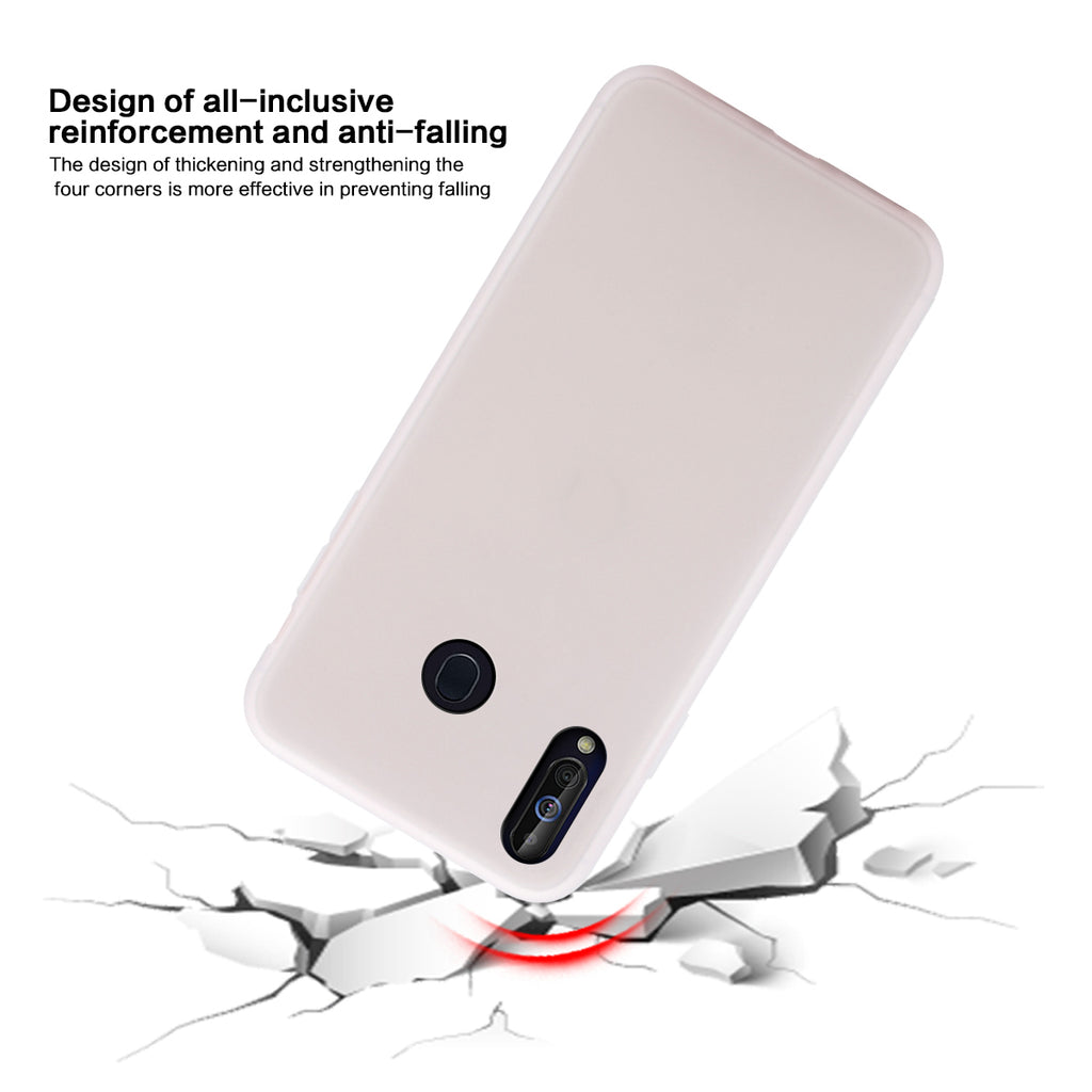 Samsung Galaxy A60 Case Shock-Absorption TPU Bumper Cover Candy White