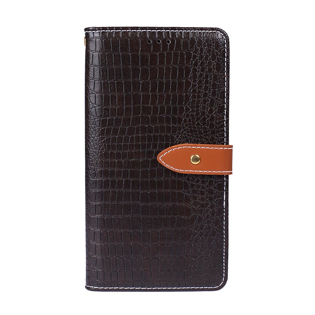 Samsung Galaxy A60 PU Leather Wallet Case with ID&Credit Card Slots Kickstand Dark Brown