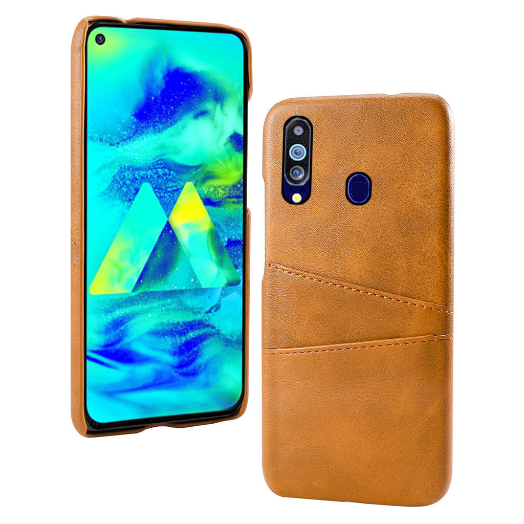 Samsung Galaxy M40 Card Case PU Spilicing Card Holder Protection Case Orange