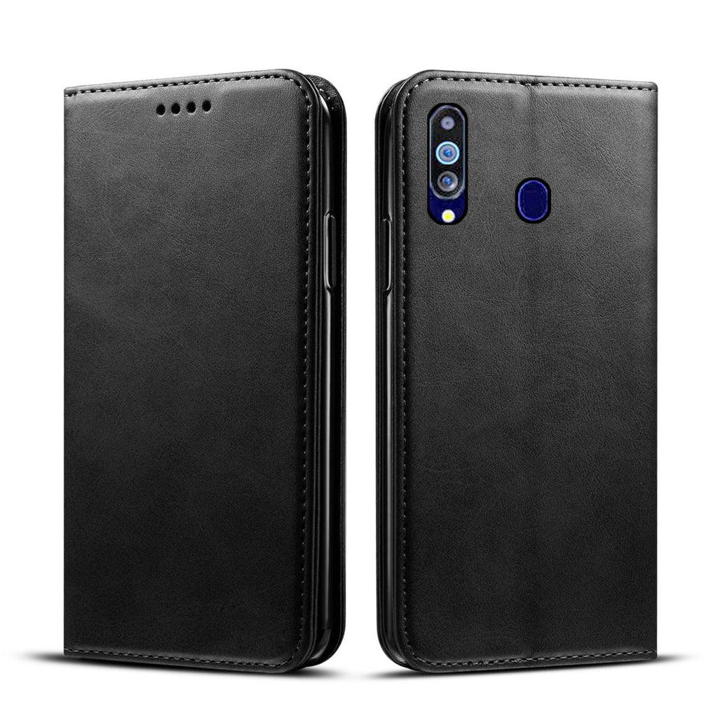 Wallet Card Case for Galaxy M40 with Credit Card Holder Magnetic Closure Black