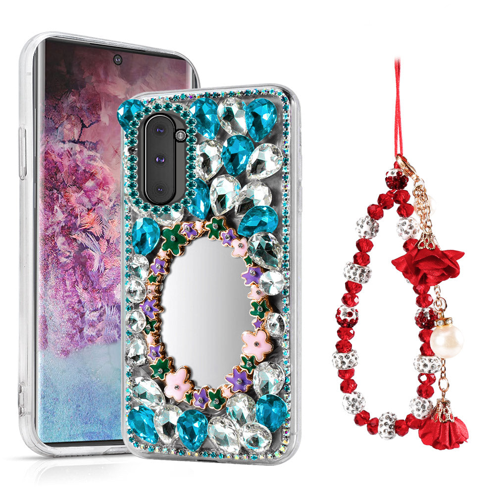 Samsung Galaxy Note 10 Case Bling Crystal Rhinestone with Mirror Heavy Duty Cover #5
