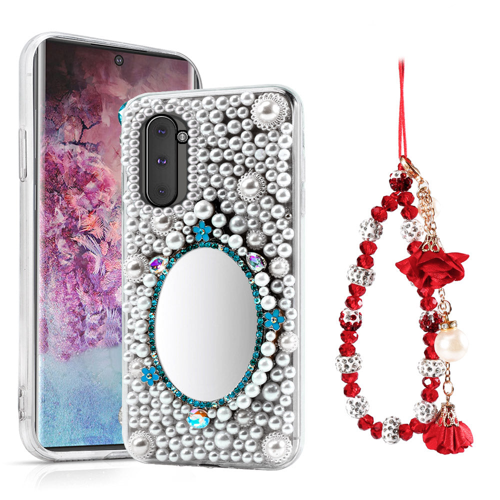 Samsung Galaxy Note 10 Case 3D Luxury Crystal Shiny Rhinestone Diamond Cover with Mirror #6