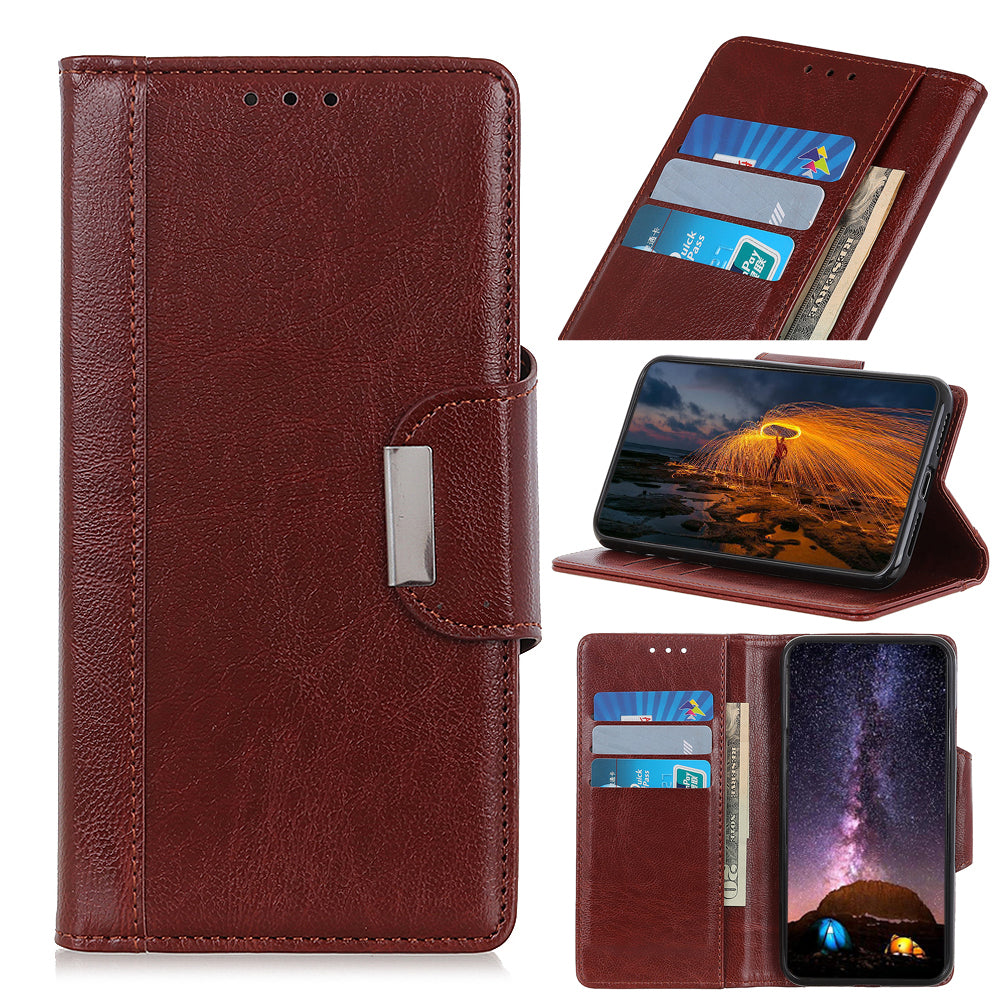 Samsung Galaxy Note 10 plus Leather Case with Card Holders Kickstand Wallet Brown