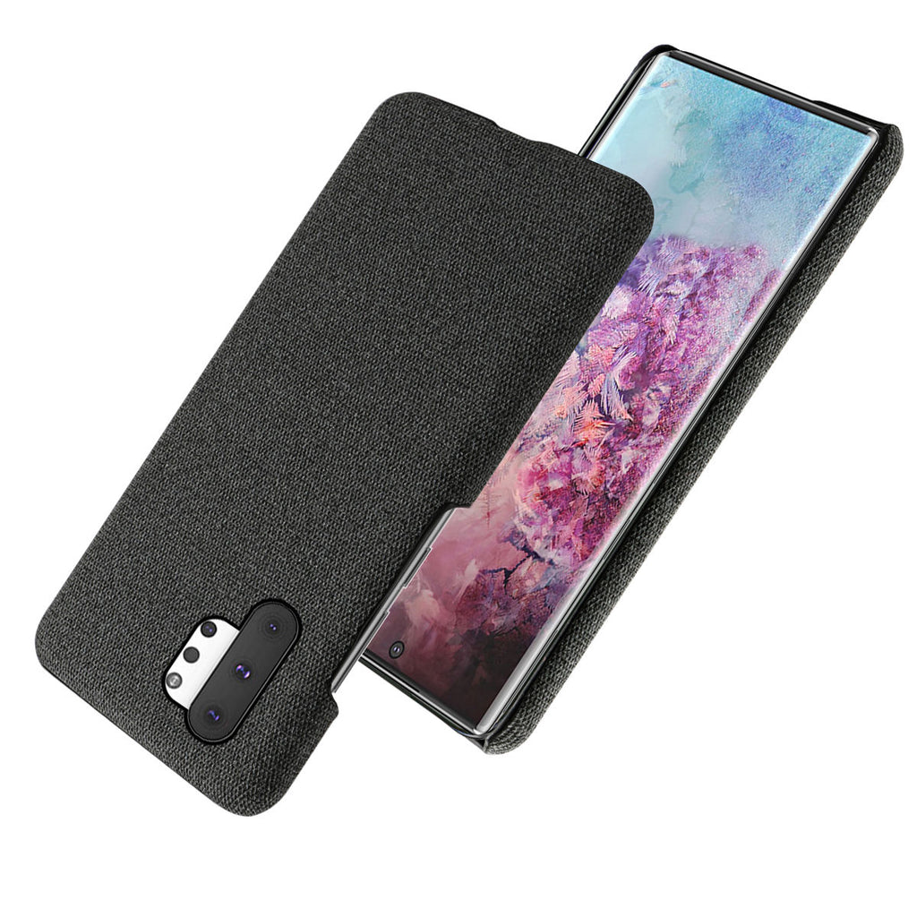 Samsung Galaxy Note 10 Plus 5G case thin fabric cover anti shock black