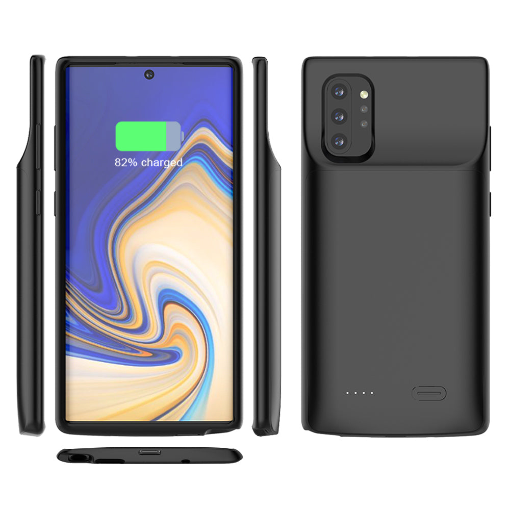 Battery Case for Galaxy Note 10 Plus 6000mAh Portable External Battery Charger Black