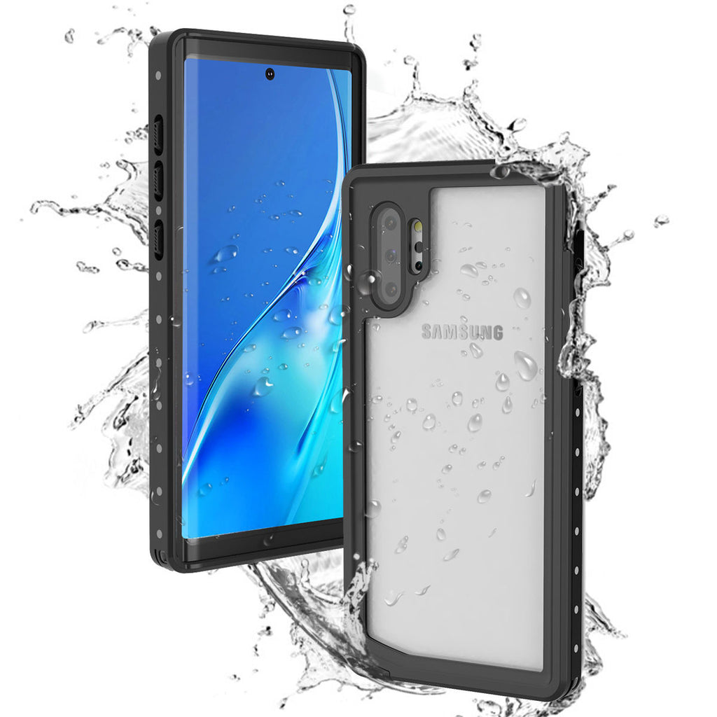 Galaxy Note 10 plus Waterproof Case Slim Fit IP68 Certified Cover Black