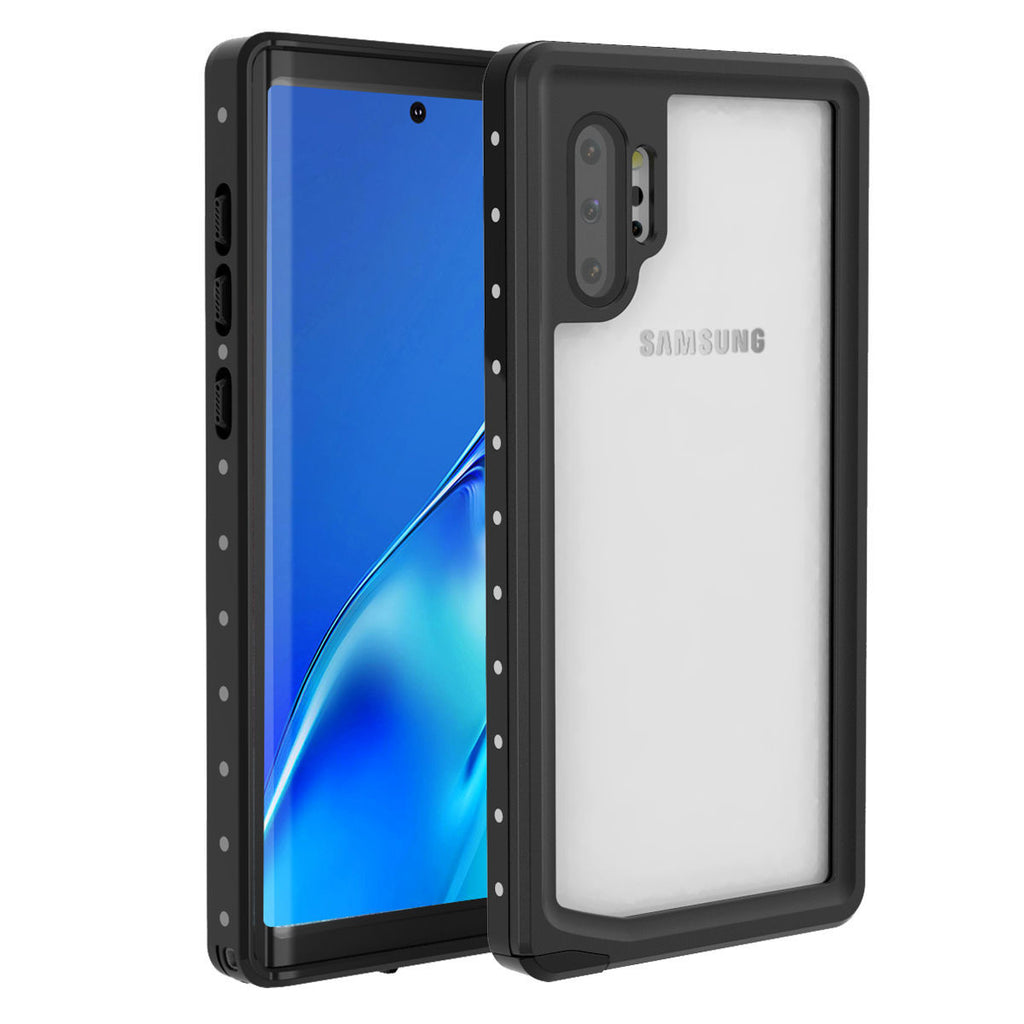 Waterproof Case for Galaxy Note 10 plus Thin Cover Support Touch ID Black
