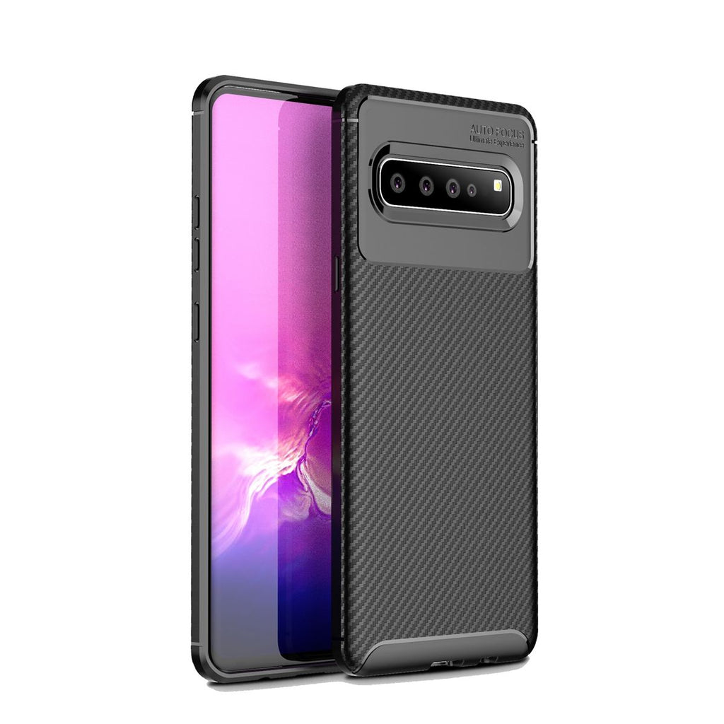 Case for Samsung Galaxy S10 5G Anti-Fingerprint TPU Phone Case Cover Black