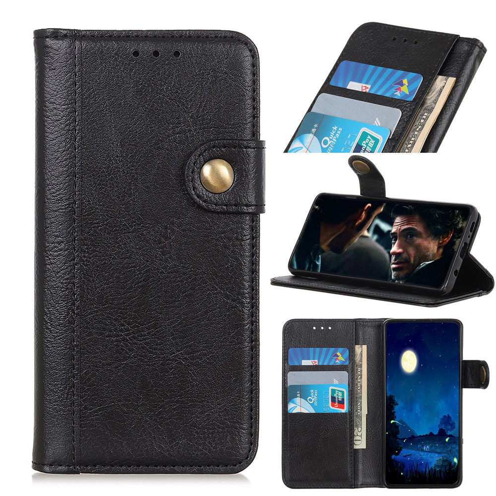 Samsung Galaxy S10 5G Leather Case Flip Wallet Shockproof Cover with Card Slots Black