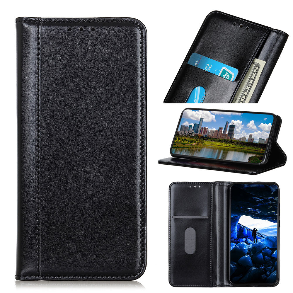 Leather Case for Galaxy S10 5G with Card Holder Luxury Wallet Black