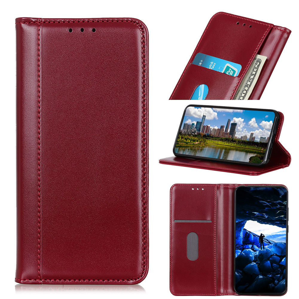 Samsung Galaxy S10 5G Wallet Case with Card Holder & Kickstand Win Red