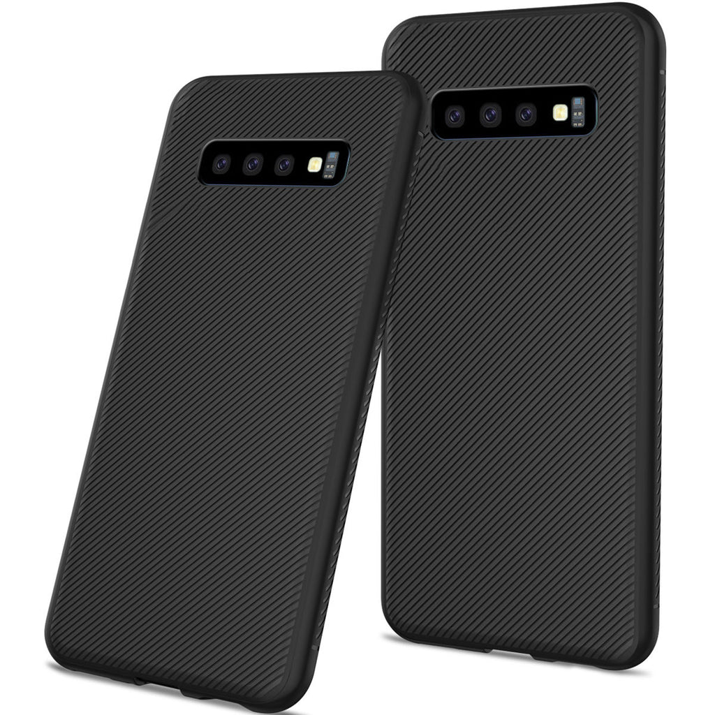 Samsung Galaxy S10 Case Back Cover Soft TPU Scratch Resistant Protective Shell Anti-slip Black