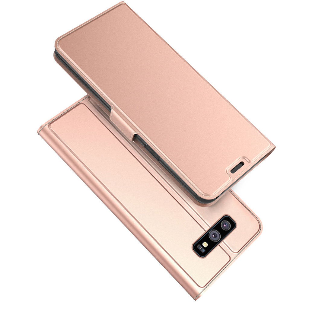 Samsung Galaxy S10 Plus Wallet Case Flip Stand Leather Cover Protection with Credit Card Holders Rose Gold