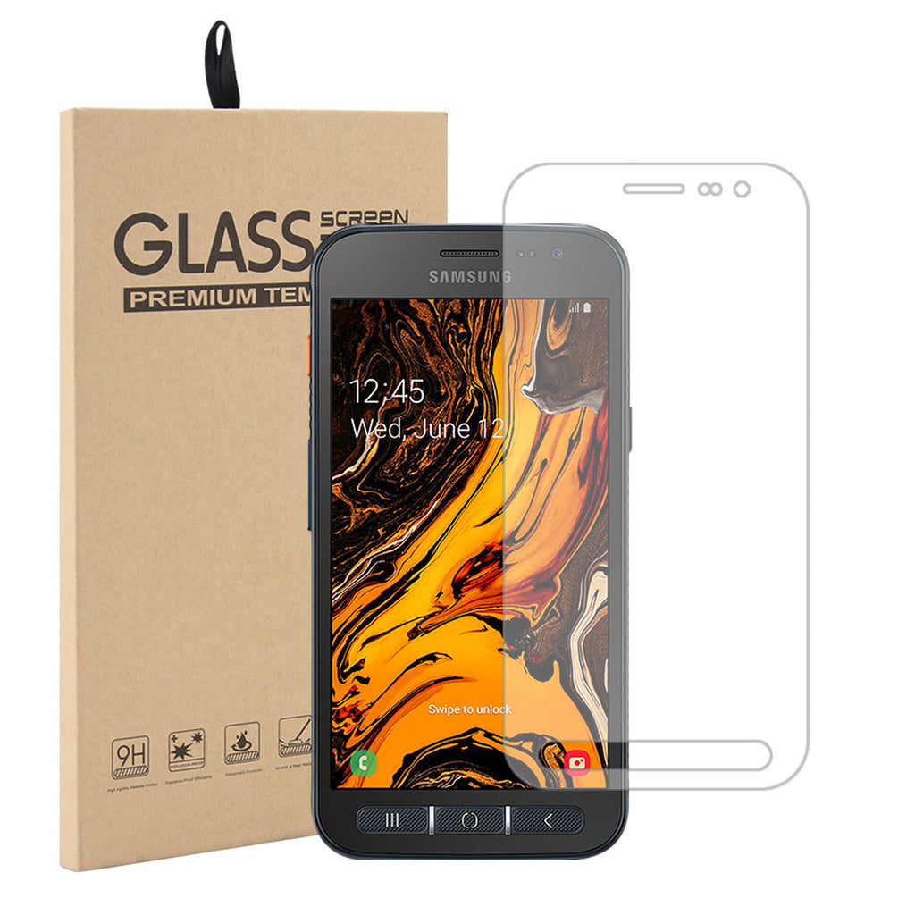 Samsung Galaxy Xcover 4s Screen Protector Case Friendly Tempered Glass 1 Pack