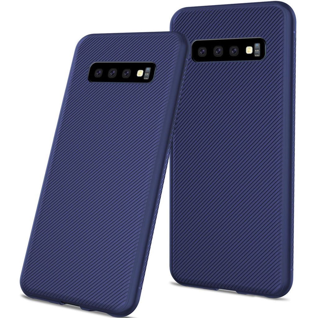 Samsung Galaxy S10 Plus Case Phone Cover Soft TPU Scratch Resistant Protective Shell Dark Blue
