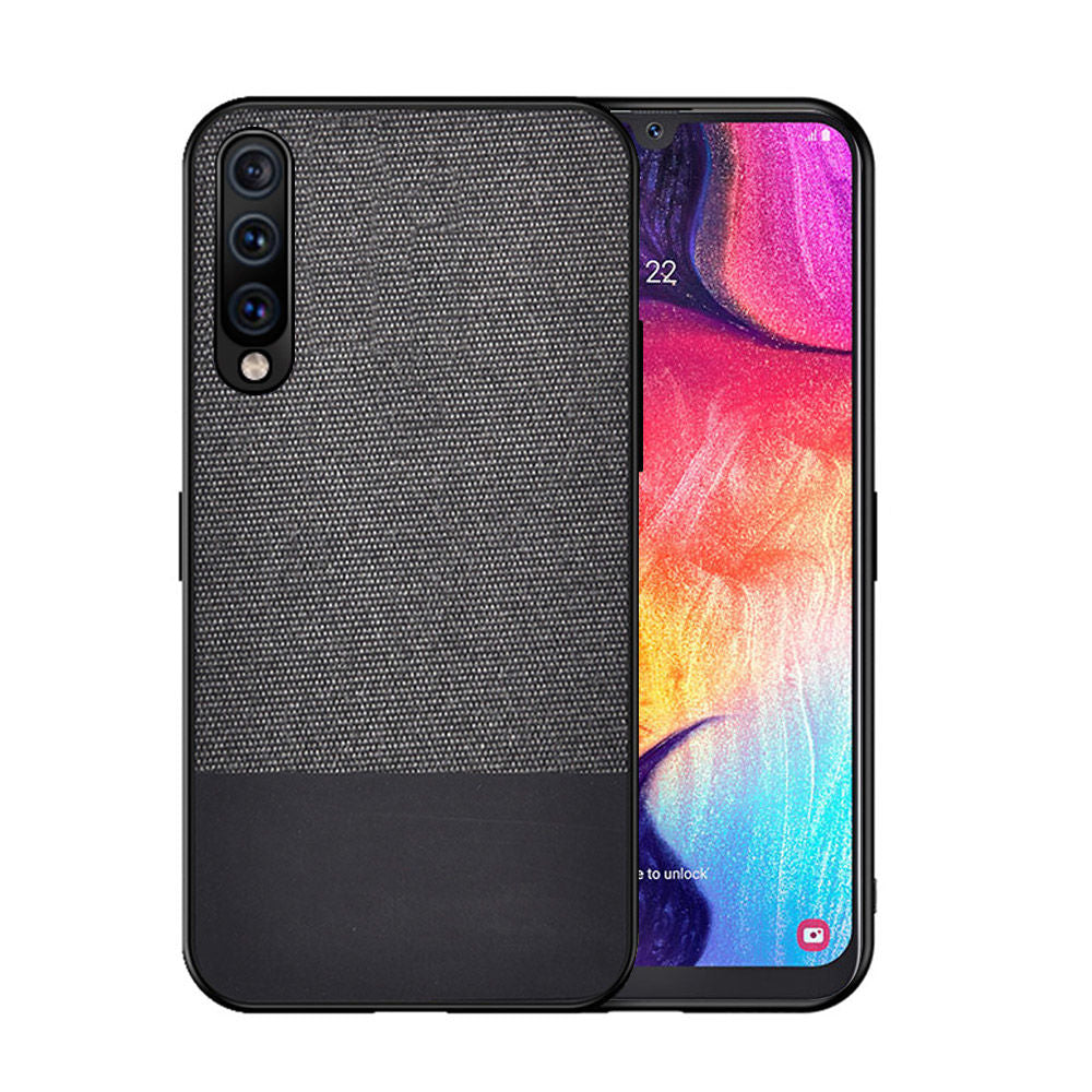 Samsung Galaxy A50 Case Thin Fabric Drop-proof Protective Cover Black