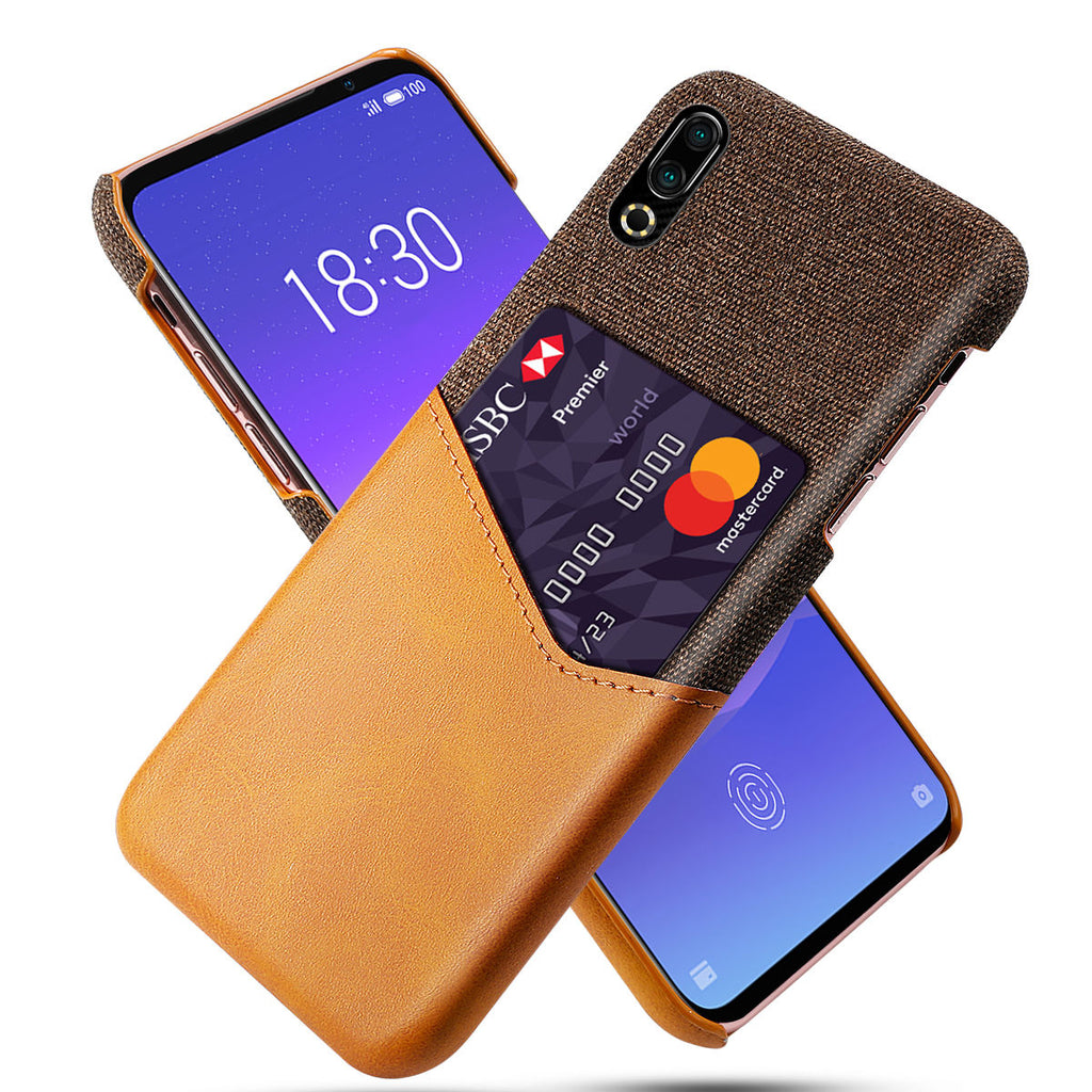 Samsung galaxy a70 Case Shockproof Phone Cover with Credit Card Holder Orange