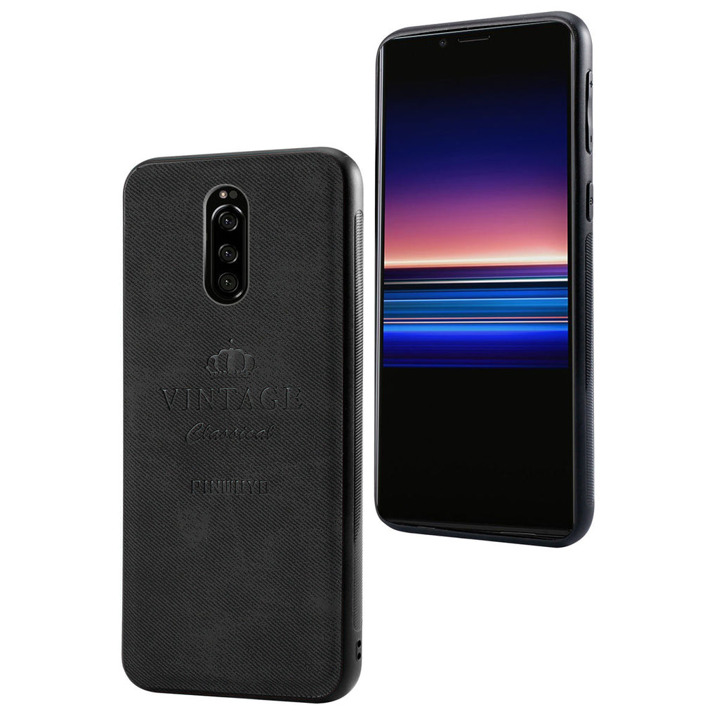 Sony Xperia 1 Case Anti-Scratch Non Bulky Shockproof Protective Cover Black