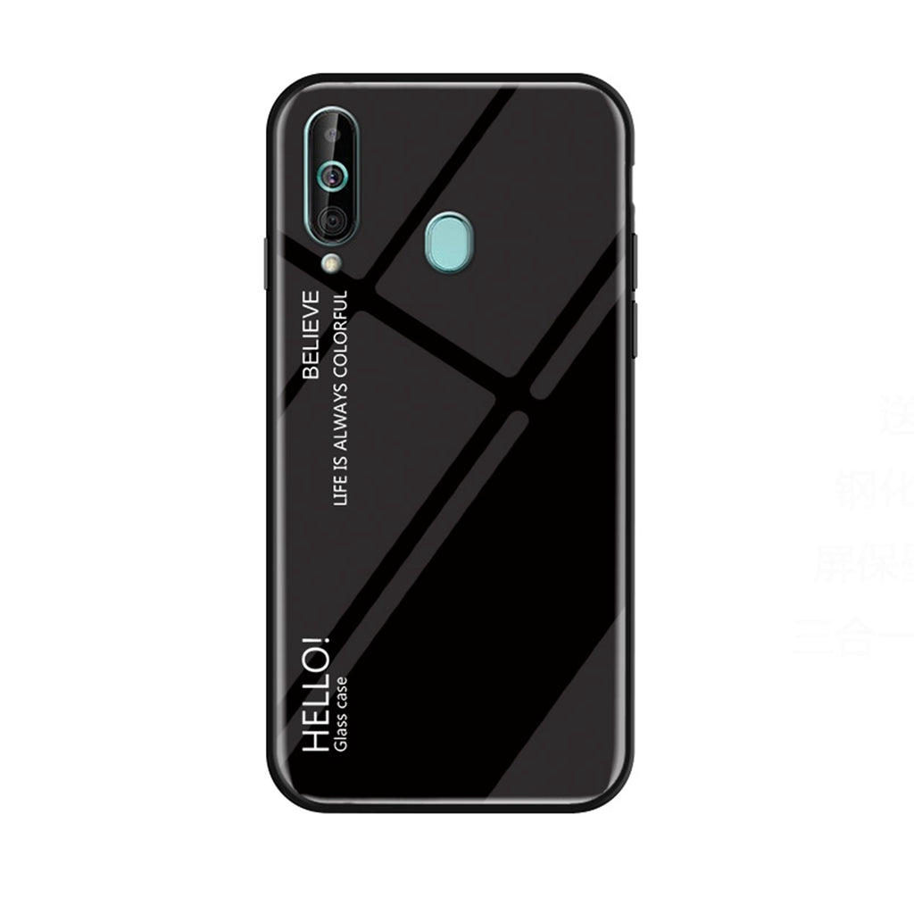 Samsung Galaxy A60 Case Gredient Color Thin Phone Case Black