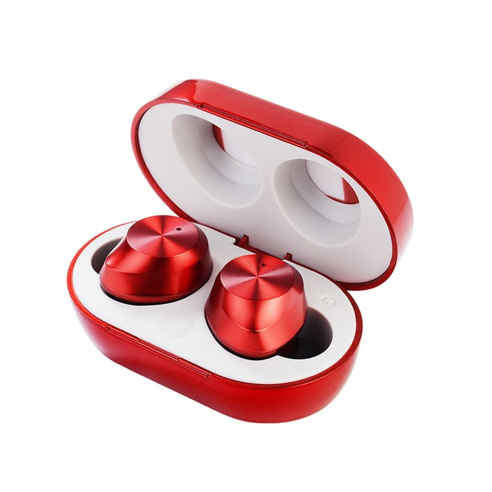 TWS Wireless Earbuds Bluetooth 5.0 Noise Canceling Touch Control Headset Red