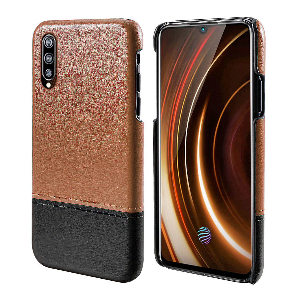 Vivo iQOO Case Rugged Drop Protection Slim Fit Hard Cover Brown-black