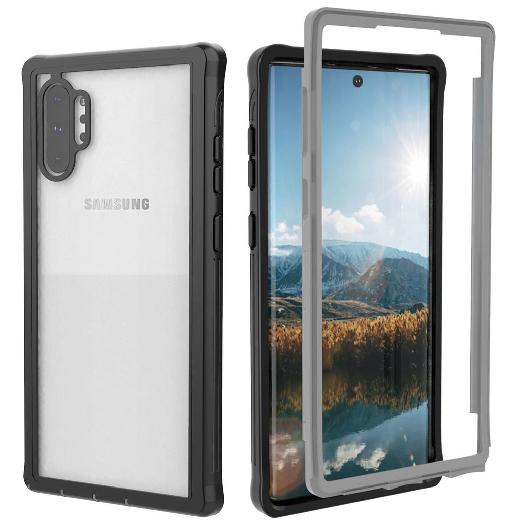 Samsung Note 10 plus Case Dustproof Cover Full Body Protective Case Black-Grey