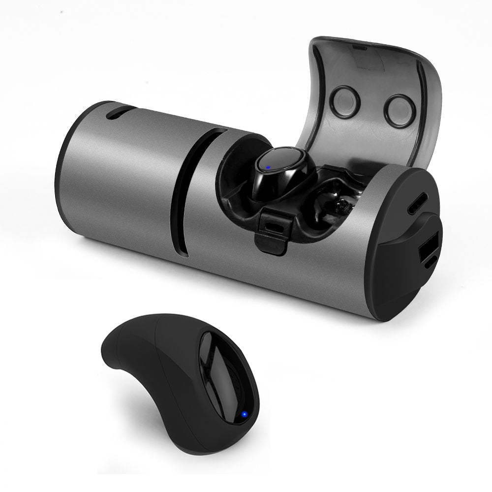Waterproof wireless earbuds bluetooth speaker mini running outdoor earphone with charging case black