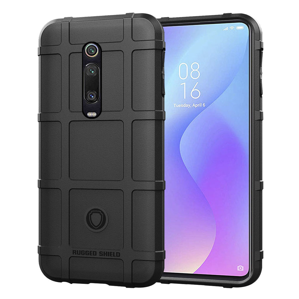 Xiaomi Mi 9T Cover Shock Absorption Soft Bumper case Heavy Duty Protection Black