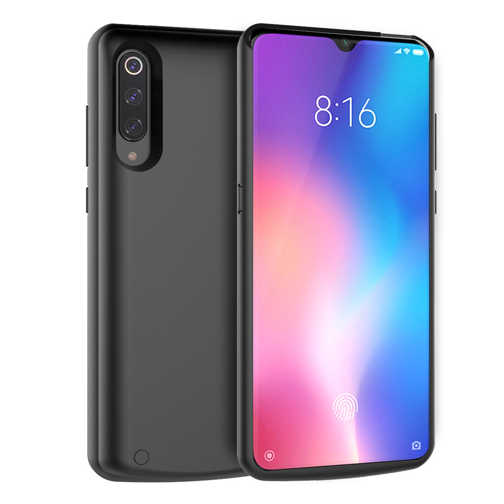 Xiaomi Mi 9 Battery Case Slim Extended Pack 5000mAh Rechargeable Charger Black