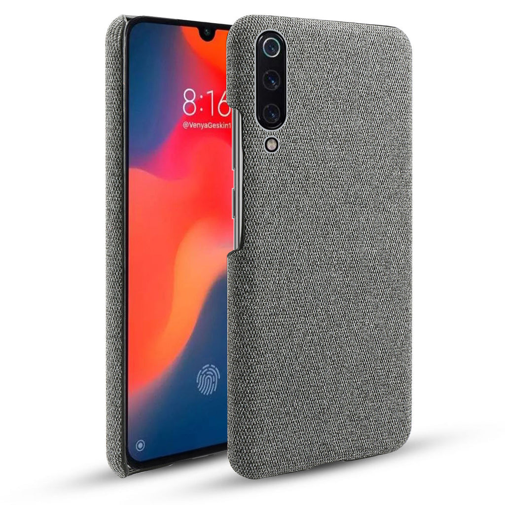 Xiaomi Mi 9 Case Retro Fabric Ultra Thin Shockproof Hard Cover Grey