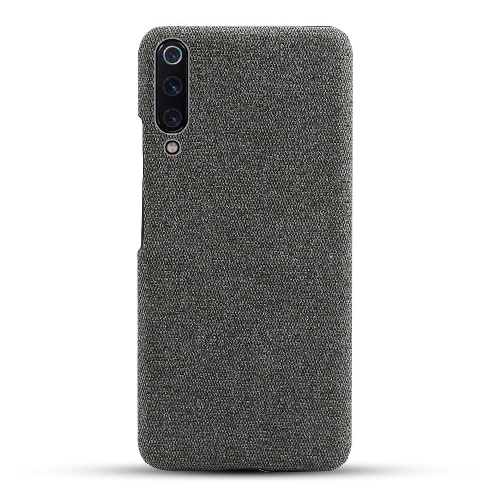 Xiaomi Mi 9 Back Case Retro Fabric Ultra Thin Shockproof Hard Cover Grey