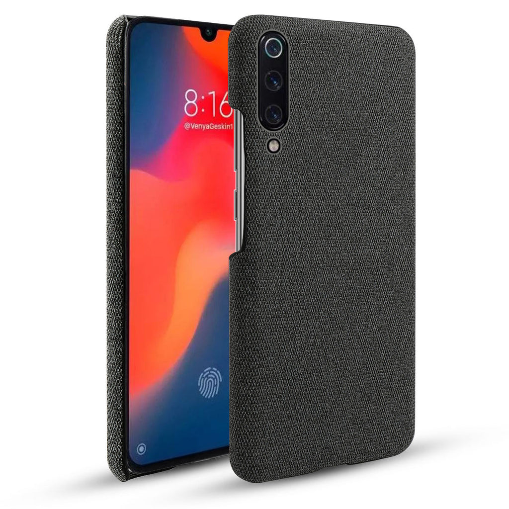 Xiaomi Mi 9 Explore PC Hard Case Vintage Fabric Slim Anti-scratch Cover Black